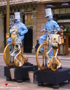 Живые скульптуры Барселоны