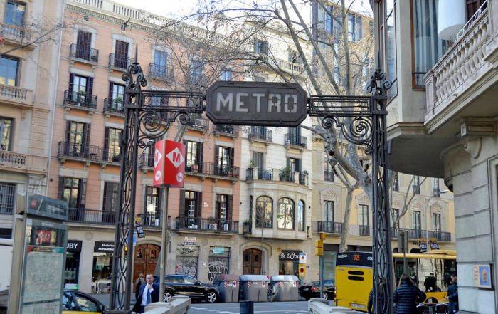 Входы/выходы в метро Барселоны