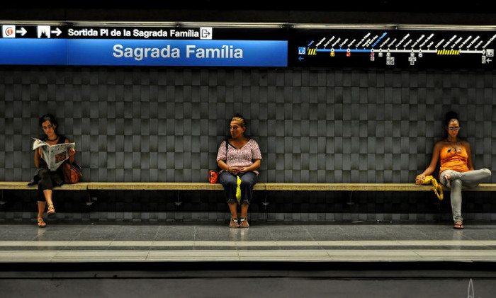 Станция метро Sagrada Familia