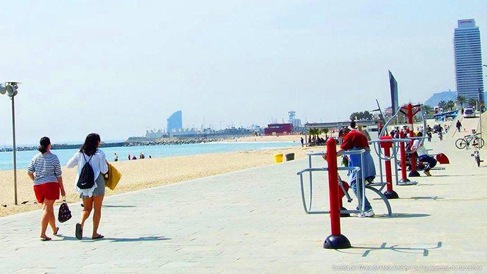 Пляж Богатель в Барселоне